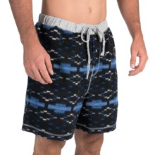 True Grit Flannel Boxer Shorts (For Men) in Blue/Black - Closeouts