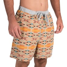 True Grit Flannel Boxer Shorts (For Men) in Khaki Orange - Closeouts