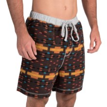 True Grit Flannel Boxer Shorts (For Men) in Orange/Brown - Closeouts