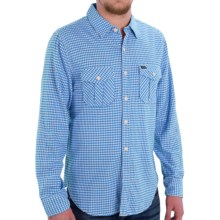 True Grit Flannel Shirt - Long Sleeve (For Men) in Blue - Closeouts