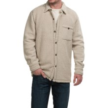 True Grit Fleece Button-Up Shirt - Long Sleeve (For Men) in Ivory - Closeouts