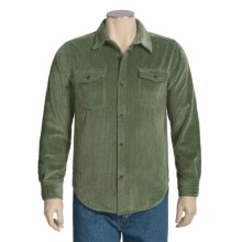 True Grit Frosted Cut Cord Shirt - Button Front, Long Sleeve (For Men) in Olive - Closeouts
