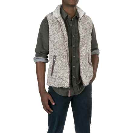 True Grit Frosty Tipped Double-Up Fleece Vest (For Men) in Brown - Closeouts