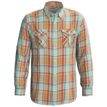 True Grit Harley Flannel Shirt - Long Sleeve (For Men) in Dixon Aqua - Closeouts