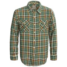 True Grit Harley Flannel Shirt - Long Sleeve (For Men) in Filmore Green - Closeouts