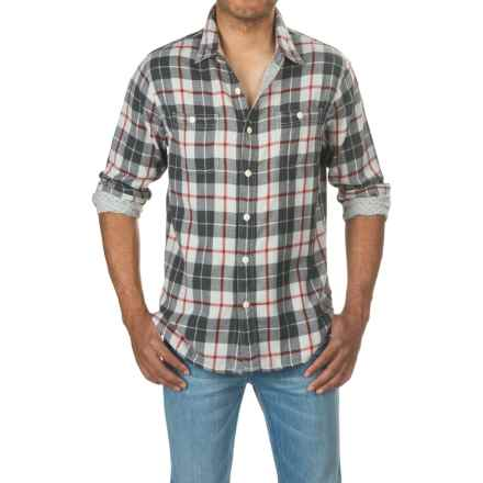 True Grit Harley Flannel Shirt - Long Sleeve (For Men) in Vcr Vintage Charcoal W/Red - Closeouts