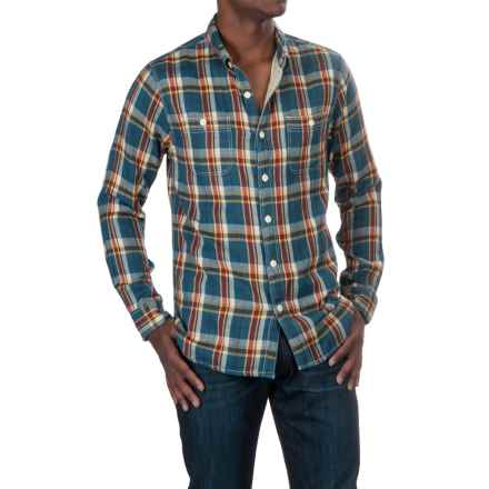 True Grit Harley Flannel Shirt - Long Sleeve (For Men) in Vintage Denim - Closeouts