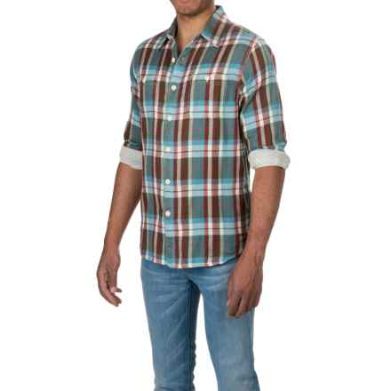 True Grit Harley Flannel Shirt - Long Sleeve (For Men) in Vintage Olive - Closeouts