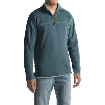 True Grit Heather Fleece-Lined Sweatshirt - Zip Neck (For Men) in Industrial Blue - Closeouts