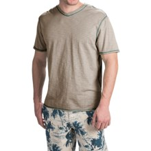 True Grit Heritage Slub Shirt - V-Neck, Short Sleeve (For Men) in Pebble - Closeouts