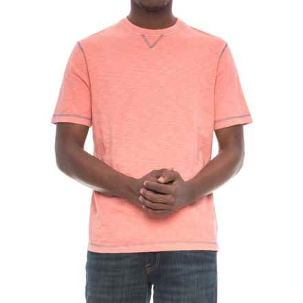 True Grit Heritage Slub T-Shirt - Short Sleeve (For Men) in Coral - Closeouts