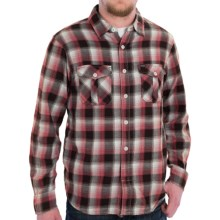 True Grit Indian Checks Flannel Shirt - Long Sleeve (For Men) in Red/Black - Closeouts