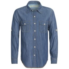 True Grit Indigo Luxe Weave Shirt - Long Sleeve (For Men) in Indigo - Closeouts