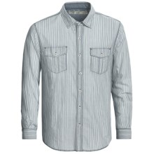 True Grit Indigo Stripe Shirt - Long Sleeve (For Men) in Indigo - Closeouts