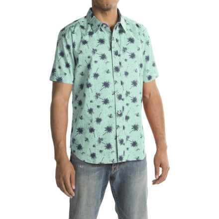 True Grit Island Fever Shirt - Short Sleeve (For Men) in Vintage Aqua - Closeouts