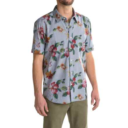 True Grit Island Time Shirt - Short Sleeve (For Men) in Chambray - Closeouts