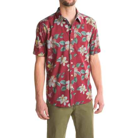 True Grit Island Time Shirt - Short Sleeve (For Men) in Red - Closeouts