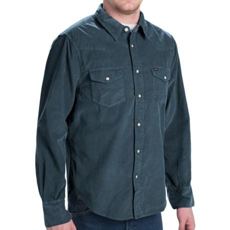 True Grit Jackson 24-Wale Corduroy Shirt - Long Sleeve (For Men) in Industrial Blue
