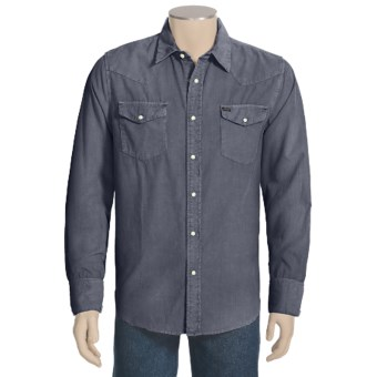 True Grit Jackson 24-Wale Corduroy Shirt - Long Sleeve (For Men) in Vintage Denim