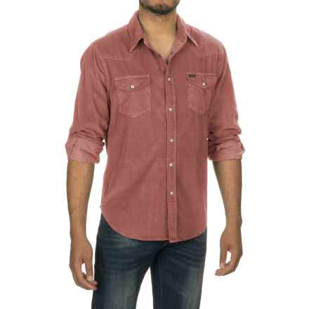 True Grit Jackson Corduroy Shirt - Long Sleeve (For Men) in Brick - Closeouts