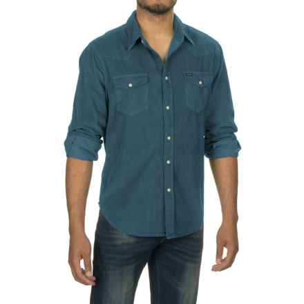 True Grit Jackson Corduroy Shirt - Long Sleeve (For Men) in Industrial Blue - Closeouts
