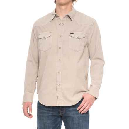 True Grit Jackson Corduroy Shirt - Long Sleeve (For Men) in Smoke - Closeouts