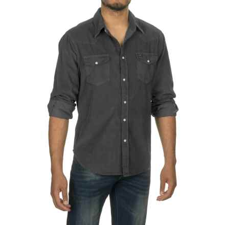 True Grit Jackson Corduroy Shirt - Long Sleeve (For Men) in Thyme - Closeouts