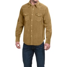 True Grit Jackson Corduroy Shirt - Long Sleeve (For Men) in Tobacco - Closeouts