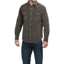 True Grit Jackson Corduroy Shirt - Long Sleeve (For Men) in Vintage Black - Closeouts