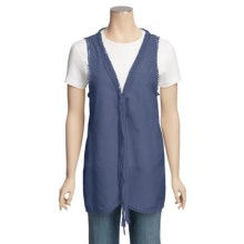 True Grit Lace-Trim Vest (For Women) in Light Indigo - Closeouts