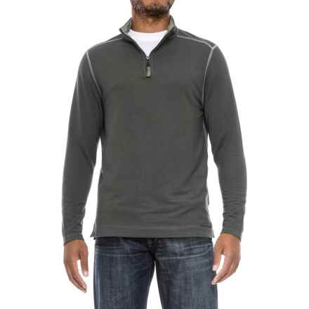 True Grit Lightweight TENCEL® Shirt - Zip Neck, Long Sleeve (For Men) in Thyme - Closeouts