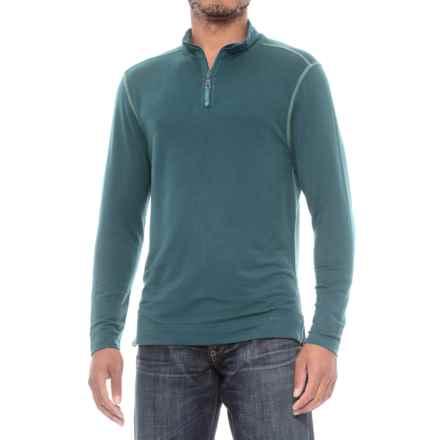 True Grit Lightweight TENCEL® Shirt - Zip Neck, Long Sleeve (For Men) in Vintage Grey - Closeouts