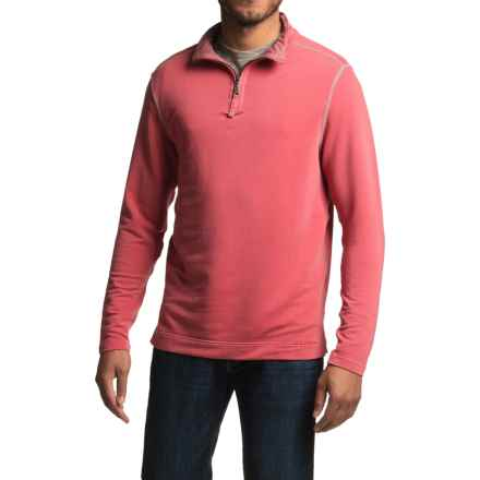 True Grit Lightweight TENCEL® Shirt - Zip Neck, Long Sleeve (For Men) in Vintage Red - Closeouts