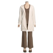 True Grit Long Cardigan Sweater - Open Front, Thermal Lining (For Women) in Natural - Closeouts