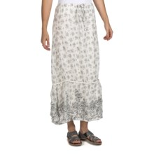 True Grit Long Toile Print Skirt (For Women) in White - Closeouts