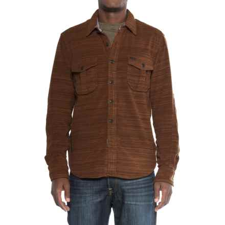 True Grit Lux Field Fleece Shirt Jacket - Long Sleeve (For Men) in Coffee - Closeouts