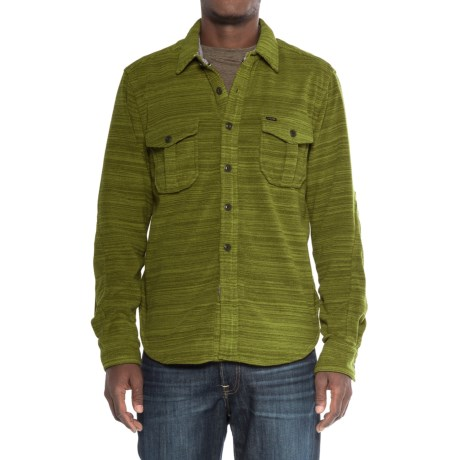 True Grit Lux Field Fleece Shirt Jacket - Long Sleeve (For Men) in Green