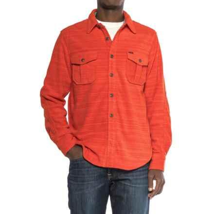 True Grit Lux Field Fleece Shirt Jacket - Long Sleeve (For Men) in Red - Closeouts