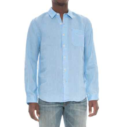 True Grit Lux Linen Shirt - Long Sleeve (For Men) in Chambray - Closeouts