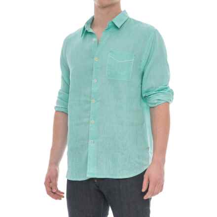 True Grit Lux Linen Shirt - Long Sleeve (For Men) in Soft Green - Closeouts
