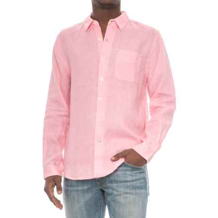 True Grit Lux Linen Shirt - Long Sleeve (For Men) in Soft Pink - Closeouts