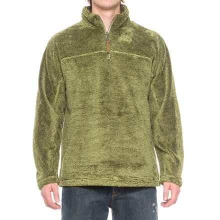 True Grit Luxe Fleece Stripe Shirt - Zip Neck, Long Sleeve (For Men) in Green - Closeouts