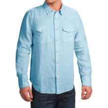 True Grit Luxe Linen Shirt - Long Sleeve (For Men) in Sea Blue - Closeouts