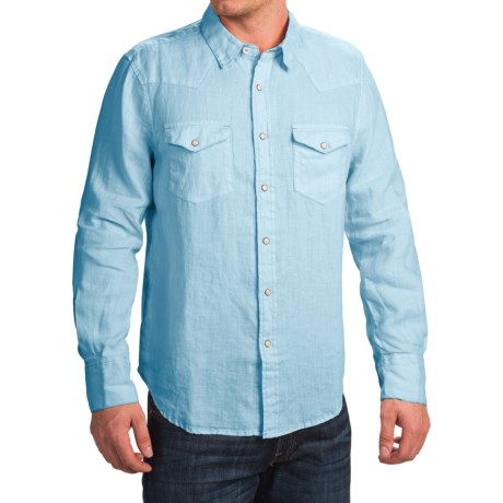 True Grit Luxe Linen Shirt Long Sleeve (For Men)