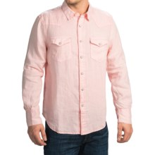 True Grit Luxe Linen Shirt - Long Sleeve (For Men) in Soft Pink - Closeouts