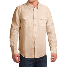 True Grit Luxe Linen Shirt - Long Sleeve (For Men) in Vintage Natural - Closeouts