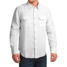 True Grit Luxe Linen Shirt - Long Sleeve (For Men) in White - Closeouts
