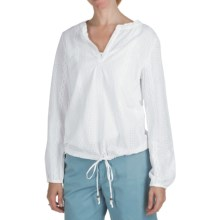 True Grit Maisie Eyelet Popover Shirt - Long Sleeve (For Women) in White - Closeouts