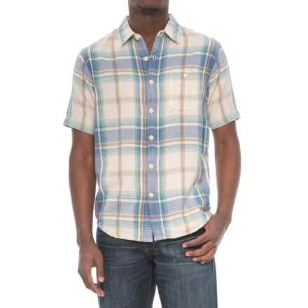 True Grit Maverick Plaid Shirt - Short Sleeve (For Men) in Blue - Closeouts