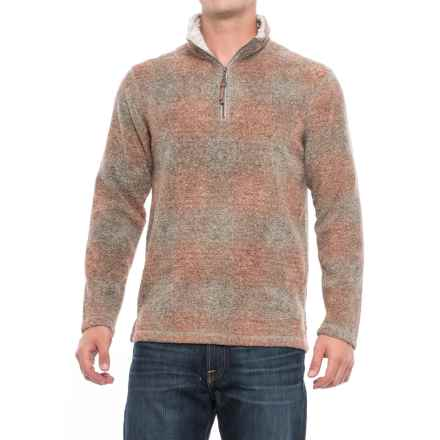 True Grit Melange Blanket Fleece Shirt- Zip Neck (For Men) in Spice Plaid - Closeouts